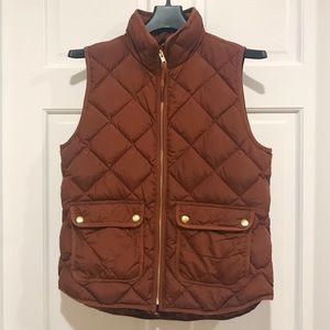 J.Crew Excursion Quilted Down Vest Size Small